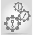 gear mechanism concept 11a vector image vector image