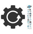 Gear Rotation Icon With Air Drone Tools Bonus vector image vector image
