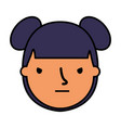 girl face sad expression gesture vector image