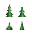 green paper fir tree set with spruces of different vector image