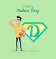 happy fathers day poster daddy great sportsman vector image vector image