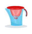 icon of glass water filter pitcher kitchen vector image vector image