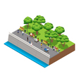 Isometric Landscaping Composition With People vector image