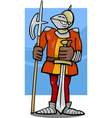 knight in armor cartoon vector image vector image