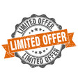 limited offer stamp sign seal vector image vector image