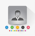 male customer service icon sign symbol app in vector image vector image