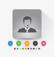 male customer service icon sign symbol app vector image vector image