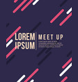 meet up card cool colorful background vector image vector image