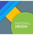 Modern unusual modern material design vector image vector image