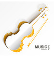 musical instrument template vector image vector image