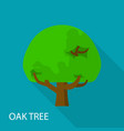 oak tree icon flat style vector image vector image