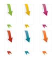 page arrows vector image