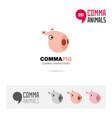 pig animal concept icon set and logo brand vector image vector image
