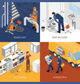 plumbing service design concept vector image vector image
