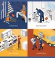plumbing service design concept vector image