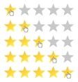 Rating stars set vector image vector image