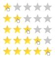 rating stars set vector image vector image
