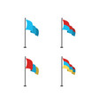 realistic flags design vector image vector image
