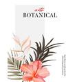 rosemallows flower arrangement botanical motif vector image vector image