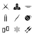 samurai icons set simple style vector image vector image