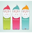 Santa Claus and Christmas banner set vector image vector image