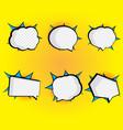 set blank speech bubble pop art comic book vector image vector image