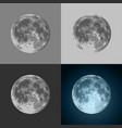 set full moon icons - prints for t-shirts vector image vector image