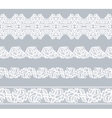 Set lace borders vector image vector image