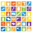 Set of Bright Colorful Icons in Flat Style vector image