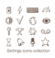 Settings icons collection vector image