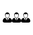 social network icon male group of persons symbol vector image