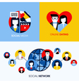 Social network social media and online dating vector image