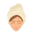 Spa center design Woman face icon graphic vector image vector image