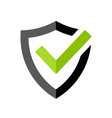 strong protection tick shield icon vector image