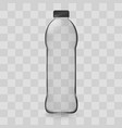 transparent plastic bottle image with the shadow vector image vector image