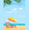 tropical beach and sea flat vector image