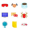 trust fund icons set cartoon style vector image vector image
