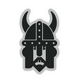 viking head symbol vector image