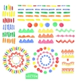 watercolor geometric brushes setbastyle vector image vector image