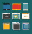 Web browsers flat design collection vector image vector image