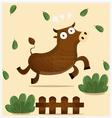 angry ox vector image