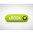 green ebook download button vector image