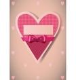 Heart shaped card vector image