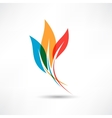 Three colored leafs vector image
