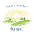 graphic summer landscape vector image