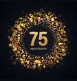 75 years anniversary isolated design vector image vector image