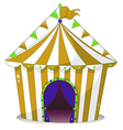 A big circus tent vector image vector image