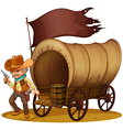 A gunman with a wagon vector image vector image
