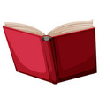 a red book on white background vector image