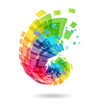 Abstract element multicolored design concept vector image vector image